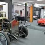 STIMAC Karosserietechnik Werkstatt Innenansicht Rolls Royce
