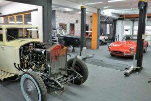Restauration Fachbetrieb für Oldtimer in Köln - Innenansicht eines Rolls Royce
